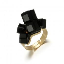 Tocona Vintage Antique złoty czarny Rhinestone otwarcie Knuckle Finger Midi zestaw pierścieni dla kobiet Punk komunikat biżuteri
