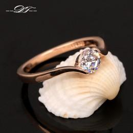 Austriacka cyrkonia zaręczyny/obrączki ślubne dla kobiet różowe złoto kolor moda marka biżuteria dla kobiet DWR239