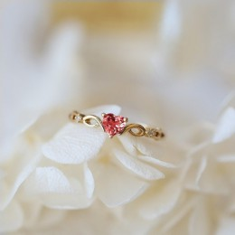 Huitan z prostymi serduszkami pierścień dla kobiet kobieta śliczne pierścienie romantyczny prezent urodzinowy dla dziewczyny mod