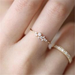 Stylowa moda kobiety pierścień biżuteria na palce różowe złoto/Sliver/kryształki w kolorze złota kryształowe pierścionki z opale