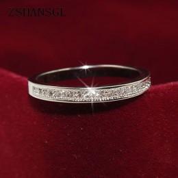 Klasyczne 925 srebro pierścionki wysokiej jakości koło jasne olśniewające CZ geometryczne wieżowych pierścienie dla kobiet biżut