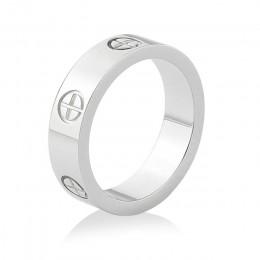 Innopes fashion śruba z łbem philipa pierścionek z cyrkonią prosty pierścionek męski ze stali nierdzewnej różowe złoto pierścion