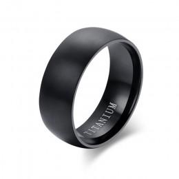 ZORCVENS moda męska czarny tytanowy pierścień matowy wykończony klasyczny zaręczynowy Anel biżuteria dla mężczyzn obrączki