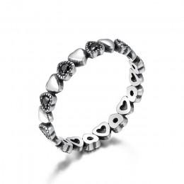 WOSTU gorąca sprzedaż 925 srebro pierścionki dla kobiet europejski oryginalny ślub moda markowy pierścionek biżuteria prezent