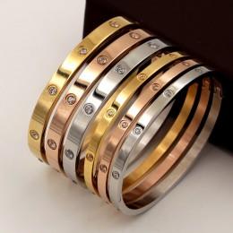 Piękne miłośników bransoletki kobieta bransoletki bransoletki i bransolety ze stali nierdzewnej cyrkonia złota kobieta biżuteria