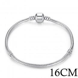 BAMOER 5 styl srebrny kolor miłość wąż łańcuch bransoletka i bransoletka 16CM-21CM Pulseras Lobster PA1104