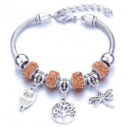 Romantyczna miłość bransoletka typu Charm DIY miłość serce klucz i blokada bransoletka dla kobiet biżuteria boże narodzenie nowy