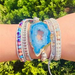 Bransoletka boho kamienie naturalne Charm 5 nici bransoletki ręcznie robiona biżuteria Dropshipping