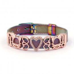 SEIALOY kolorowe siatka ze stali nierdzewnej zegarek pasek bransoletki dla kobiet mężczyzn para oryginalny urok zegarek łańcuch