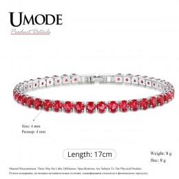 UMODE moda urok CZ bransoletki tenisowe dla kobiet mężczyzn kolorowa cyrkonia biżuteria Box łańcuch Braclets prezent bransoletka
