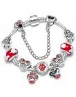 Srebrny Mickey Minnie Charm bransoletki z ładnym Marano koraliki Fit oryginalny grzywny bransoletka dla dzieci specjalny prezent