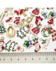 19/20 sztuk mieszane metalowe emalia Charms ozdoby świąteczne zawieszki koraliki dla bransoletka kolczyki tworzenia biżuterii oz