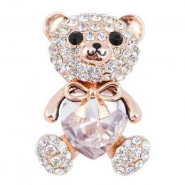 Cindy xiang 3 kolory wybierz duże kryształowe serce niedźwiedź broszka słodkie zwierząt szpilki i broszki dla kobiet elegancki p