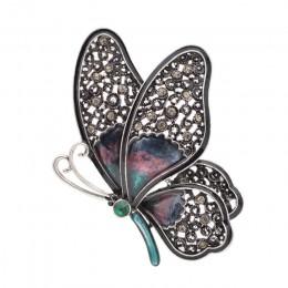 Cindy xiang Rhinestone duże motylkowe broszki dla kobiet eleganckie kolorowe owady szpilki Vintage Fashion piękne szpilki dobry