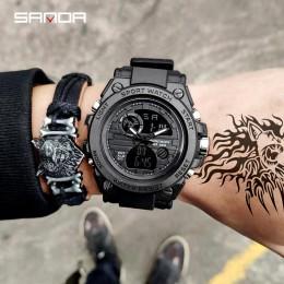 SANDA 739 sportowe męskie zegarki Top marka luksusowy wojskowy zegarek quartz mężczyzn wodoodporna S szok mężczyzna zegar relogi