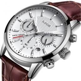 LIGE 2019 nowy zegarek moda męska Sport zegarek kwarcowy męskie zegarki marki luksusowy skórzany wodoodporny zegarek biznesowy R
