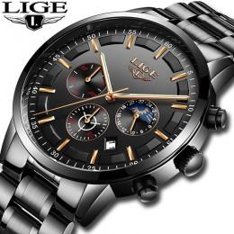 Relojes 2020 zegarek mężczyźni LIGE moda Sport zegar kwarcowy męskie zegarki Top marka luksusowy wodoodporny zegarek biznesowy R