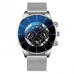 Zegarek męski Reloj Hombre Relogio Masculino kalendarz ze stali nierdzewnej zegarek kwarcowy mężczyźni zegarek sportowy zegar ge