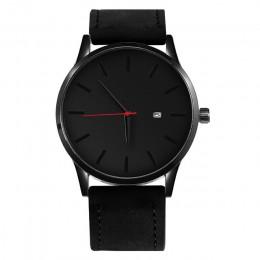 2019 mężczyźni kwarcowy zegarek Relogio Masculino wojskowy Sport skórzany pasek do zegarka mężczyzna Reloj kompletne zegarki kal