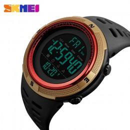 Marka skmei mężczyźni sport zegarki moda Chronos odliczanie męska wodoodporny LED cyfrowy zegarek człowiek zegarek wojskowy Relo