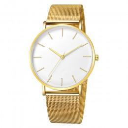 Męskie zegarki zegarki kwarcowe na co dzień proste metalowe godziny Reloj zegarek kwarcowy Montre Mesh ze stali nierdzewnej erke