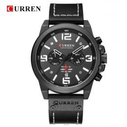 Nowy CURREN 8314 męskie zegarki Top marka luksusowe mężczyźni wojskowy sportowy zegarek skórzany zegarek kwarcowy zegarek erkek