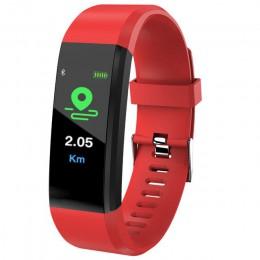 Nowy ID115 PLUS kolorowy ekran bransoletka sport zegarek Fitness bieganie Tracker moda zegarki dla dzieci dla kobiet mężczyzn dz