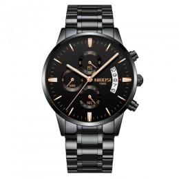 NIBOSI Relogio Masculino mężczyźni zegarki luksusowe słynny top marka moda męska Casual Dress Watch wojskowe zegarki kwarcowe Sa