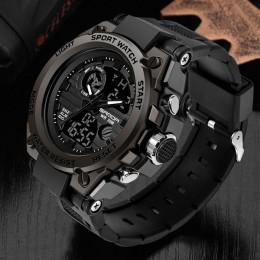 Marka sanda Wrist Watch mężczyźni zegarki wojskowe armii styl sportowy zegarek podwójny wyświetlacz zegarek męski dla mężczyzn z