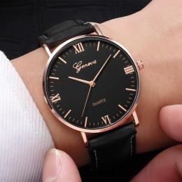 2018 Reloj moda duża tarcza wojskowy zegarek kwarcowy mężczyźni skórzane zegarki sportowe klasyczny zegarek na rękę Relogio Masc