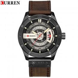 Luksusowy zegarek marki CURREN mężczyźni wojskowy sport zegarki męski zegarek kwarcowy z datownikiem człowiek dorywczo skórzany