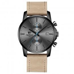 2019 mężczyźni zegarek marki CHEETAH moda sport zegarki kwarcowe męskie skórzane wodoodporne chronograf zegar biznes Relogio Mas