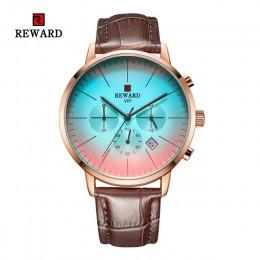 2020 nowych moda jasny kolor zegarek szklany mężczyźni Top luksusowa marka Chronograph męska ze stali nierdzewnej biznes zegar m