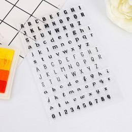 1 sztuk pieczątka angielski alfabet serii silikonowa pieczątka dekoracja do albumu na zdjęcia wyczyść pieczęć arkuszy DIY Scrapb