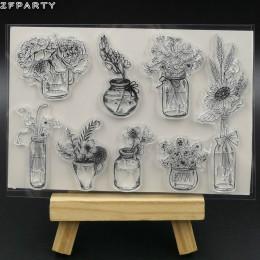 ZFPARTY wazon na kwiaty przezroczysty pieczęć silikonowa/pieczęć do DIY scrapbooking/ozdobny album na zdjęcia tworzenie kartek
