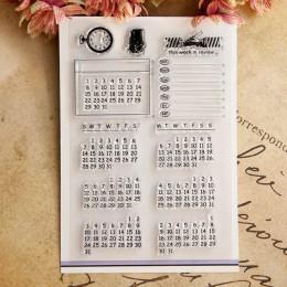 Wieczny wzór kalendarza transparentne wyraźne znaczki/silikonowe pieczątki dla świętego mikołaja DIY Scrapbooking kartka świątec