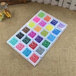 24 kolory śliczne Inkpad Cartoon Stamp Craft na bazie oleju diy atramentowy klocki na stemple gumowe dekoracje do scrapbookingu