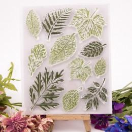 25 styl Maple Leaf wyczyść znaczki wykrojniki księga gości kartka świąteczna prace ręczne z papieru silikonowe gumowe rolki prze