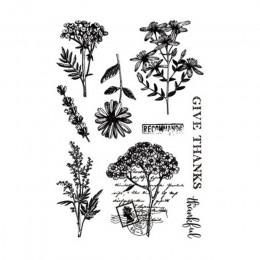 Kwiaty retro liście pieczęć transparentne wyraźne znaczki silikonowa pieczątka do album na zdjęcia diy do scrapbookingu szablon