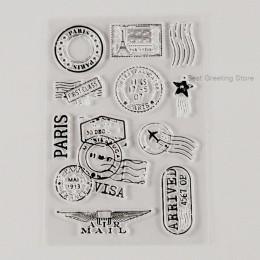 Wyczyść znaczki w stylu vintage air mail znaczki opłaty pocztowej znak koperta znaczki księga gości