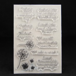 ZFPARTY zrób życzenie przezroczysty pieczęć silikonowa/pieczęć do scrapbookingu/ozdobny album na zdjęcia tworzenie kartek