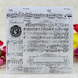 YLCS116 muzyki silikonowa przezroczysta znaczki do scrapbookingu album diy robienie kartek dekoracji wytłaczanie rękodzieło piec