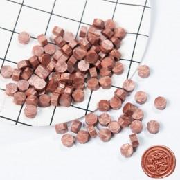 100 sztuk/partia Retro Octagon stemplowanie wosk koraliki wosk pieczęć znaczki na koperty dokumenty ślub urodziny zaproszenie