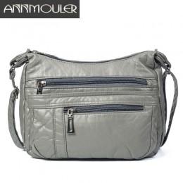 Annmouler Designer Women Crossbody Bag miękka torba na ramię ze skóry pu dobrej jakości torba małe rozmiary torebki damskie tore