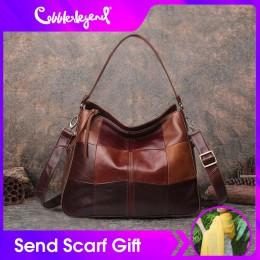 Szewc legenda torebki damskie oryginalne skórzane damskie torby na ramię kubełkowe kieszonkowe torebki Crossbody dla kobiet o du