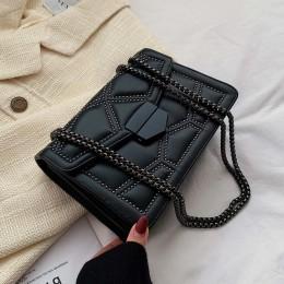 Z łańcuchem z nitami małe torby typu crossbody dla kobiet 2019 torba na ramię pani luksusowe torebki