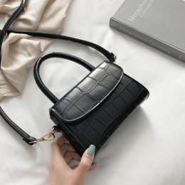 Wzór krokodyla torebki Crossbody dla kobiet 2020 mała torebka z łańcuszkiem mała torebka PU skórzana torebka damska projektant t