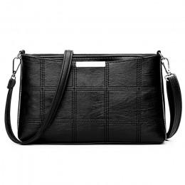Moda damska torby kurierskie typu clutch Design dziewczęce torby na ramię przekątna PU skórzane torebki damskie Vintage mała tor