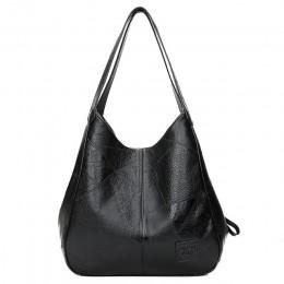 Vadim 2019 torba typu hobo torebki damskie skórzane damskie torby na ramię panie Casual Tote miękkie w stylu vintage torby dla k