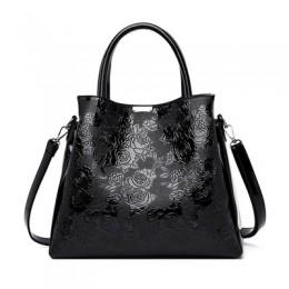 Luksusowe w wytłaczane kwiaty kwiatowe torebki damskie torebki damskie skórzane torby na ramię torebki damskie znane marki proje